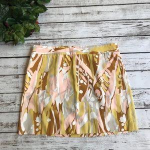 J CREW Casual Multicolored Cotton Skirt